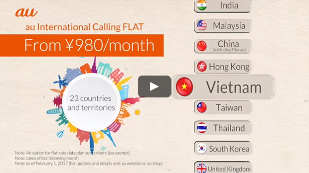 What is 'au International Calling Flat'?
