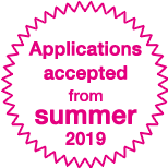Applications accepted from summer 2019