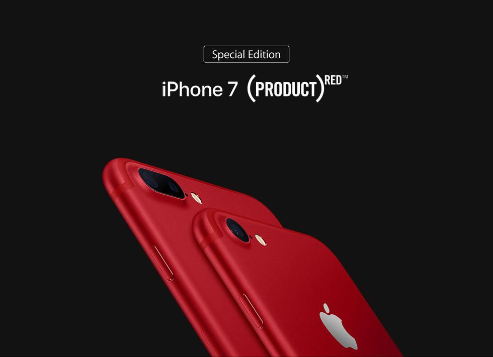 Special Edition iPhone 7(PRODUCT)RED TM