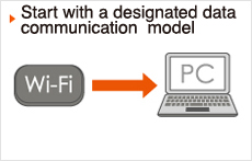 Start with a designated data communication  model