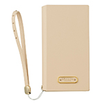 GRAMAS FEMME STZ Flap Leather Case for iPhone X/ベージュ画像