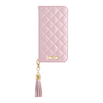 GRAMAS COLORS QUILT Leather Case for iPhone XR/Shiny Pink画像