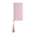 GRAMAS COLORS QUILT Leather Case for iPhone XS/Shiny Pink画像