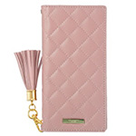 URBANO V04 GRAMAS COLORS QUILT Leather Case/Rose Pink画像
