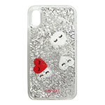 IPHORIA Hearts Transparent for iPhone X画像