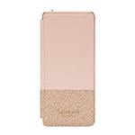 Xperia 1 kate spade(R) バイカラーブックタイプケース/Glitter Rose Gold画像
