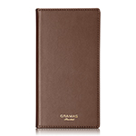 GRAMAS Full Leather Case Limited for iPhone X/Brown