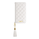 GRAMAS COLORS QUILT Leather Case/White