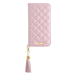 GRAMAS COLORS QUILT Leather Case/Shiny Pink