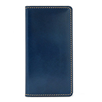 LAYBLOCK Tuscany Belly Leather Book case for iPhone XS/Navy