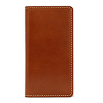 LAYBLOCK Tuscany Belly Leather Book case for iPhone XS/Brown