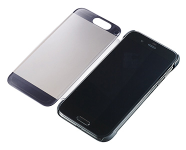 AQUOS Frosted Cover for AQUOS R SHV39/マーキュリーブラックのイメージ図